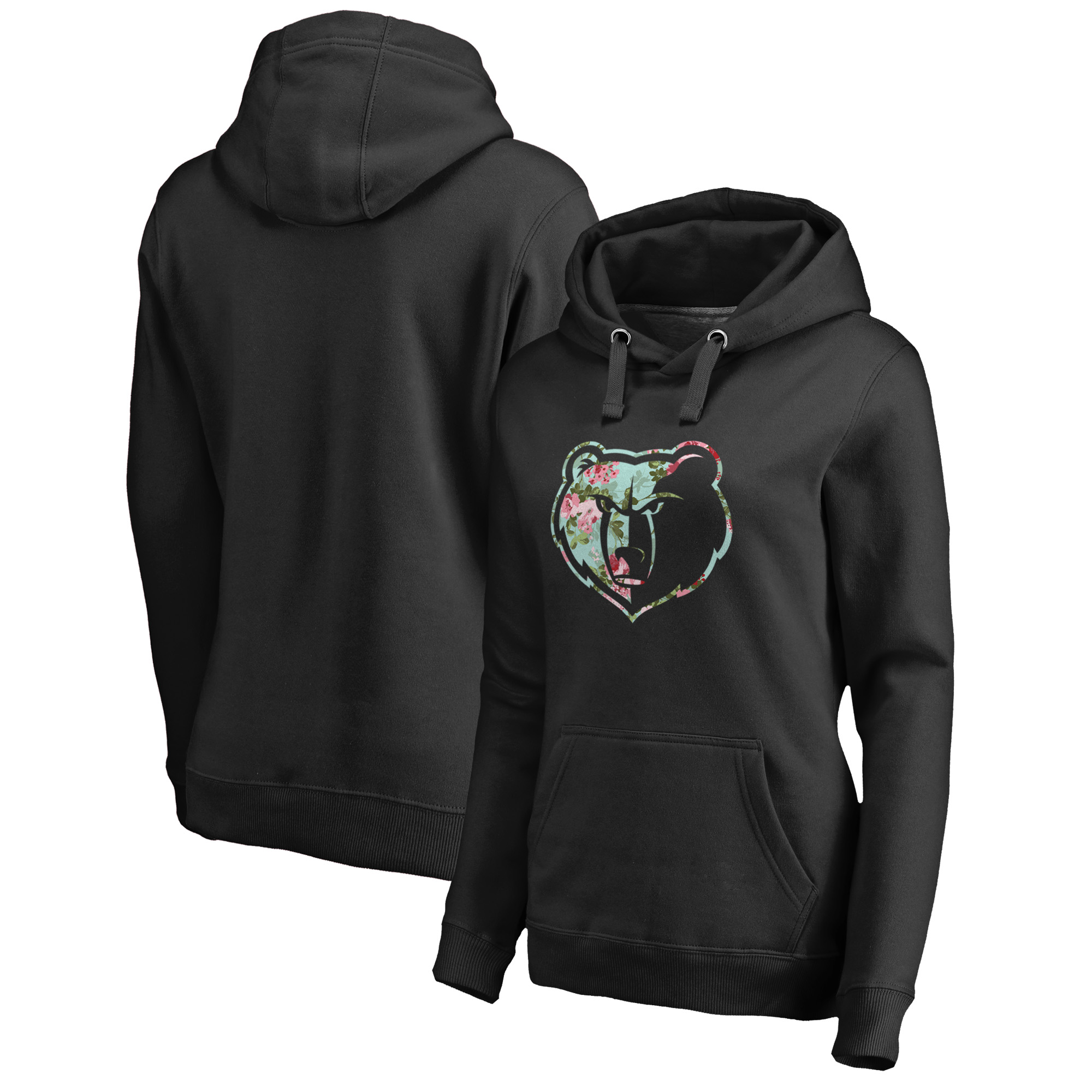 Memphis Grizzlies Fanatics Branded Women's Lovely Plus Size Pullover Hoodie - Black