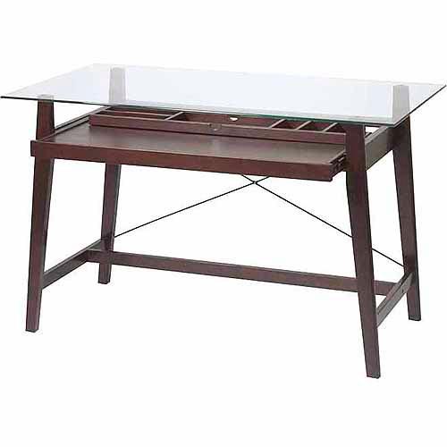 "Office Star No-Tools Assembly 42"" Tribeca Computer Desk, Espresso"