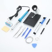 Ktaxon Soldering Iron Kit Electronics, 14-in-1, 40W Adjustable Temperature Soldering Iron, Solder, Rosin, Tweezers, Stand and Other Soldering Kits