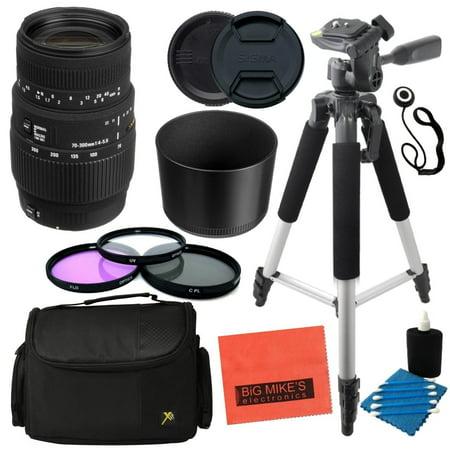 Built In Camera - Sigma 70-300mm f/4-5.6 SLD DG Macro Lens with built in motor for Nikon Digital SLR Cameras - Advanced Kit