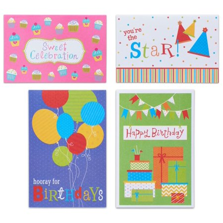 American Greetings 12 Count Happy Birthday Cards and Envelopes, Assorted Fun (Cards Happy Birthday)