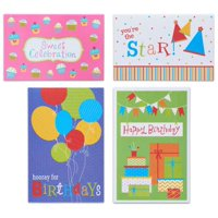 American Greetings 12 Count Happy Birthday Cards and Envelopes, Assorted Fun