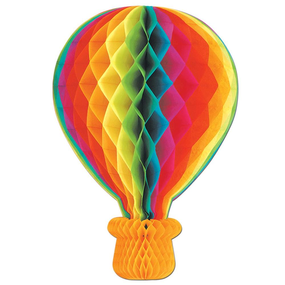 Beistle (6ct) Tissue Hot Air Balloon Party Decoration