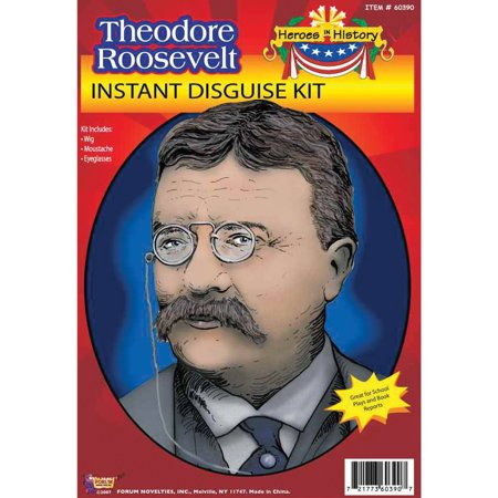 Teddy Rossevelt Heroes In History Adult Halloween Accessory
