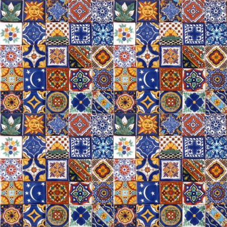 Hand Painted Field Tile - 100 Hand Painted Talavera Mexican Tiles 2