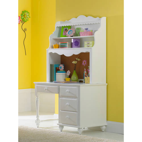 Lauren Desk with Hutch, White