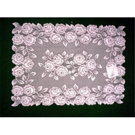 heritage lace tr-1420p tea rose 14 x 20 in. placemat, petal