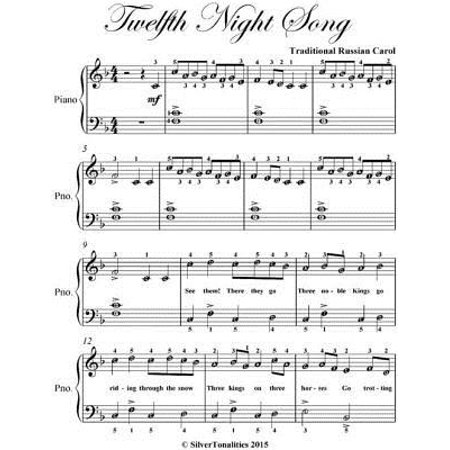 Twelfth Night Song Easy Piano Sheet Music - - Halloween Theme Song Music Sheet