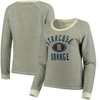 Syracuse Orange Blue 84 Women's Striped French Terry Crew - Cream
