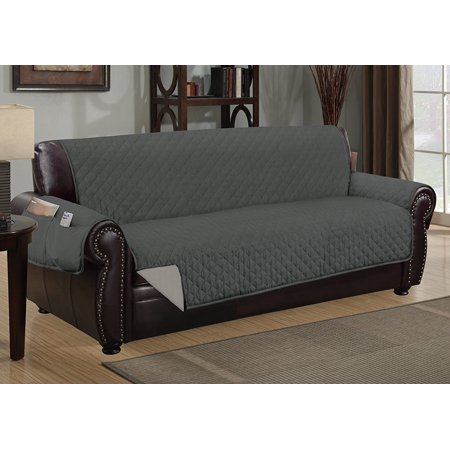 Sofa Guard Deluxe Reversible Furniture Protector With Pockets Grey Light