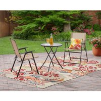 Mainstays Pleasant Grove 3-Piece Folding Bistro Set