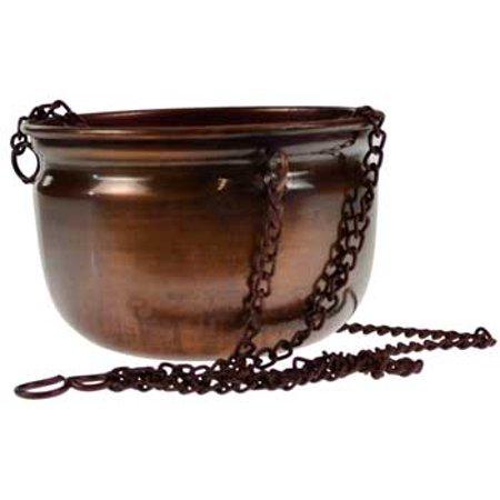 Antiqued Copper Bowl Hanging Incense Burner 4