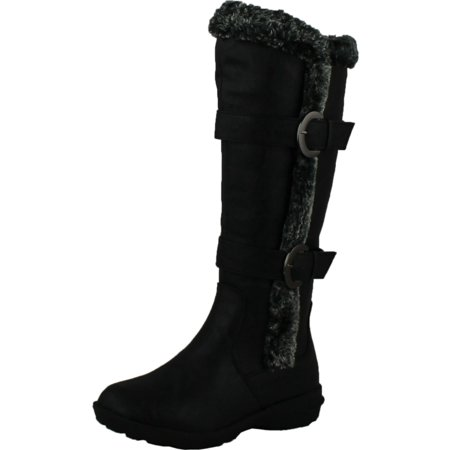 (FOREVER AURA-43 Womens Double Straps Knee High Boots Winter Boots)