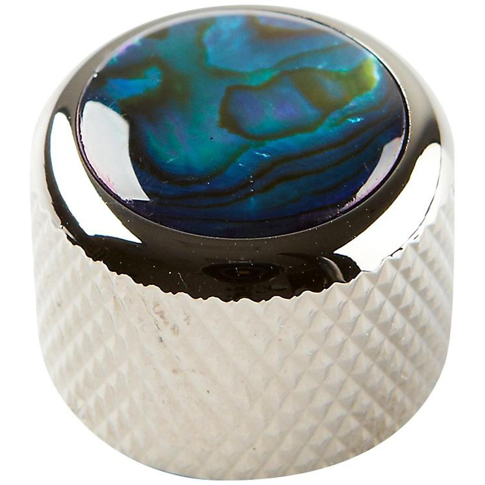 Q Parts Shell Dome Knob Single Black Chrome Blue Abalone by Q Parts