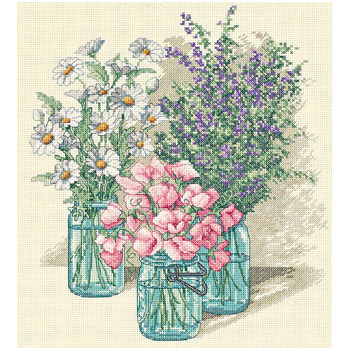 "Dimensions ""Wildflower Trio"" Counted Cross Stitch Kit, 11"" x 12"""