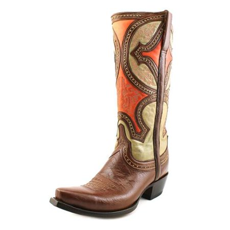 - Lucchese Womens M4860 Whiskey Cowboy, Western Boots Size 7