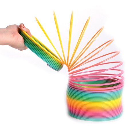 JUMBO Rainbow Coil Spring Slinky - For Boys, Girls, Parties, Gifts, & Birthdays - By Kidsco