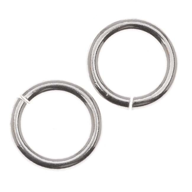 Sterling Silver Extra Heavy Open Jump Rings 8mm 17 Gauge (6)
