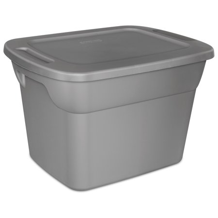 007 Stainless Steel Case - Sterilite 18 Gal Tote Box, Steel (Available in Case of 8 or Single Unit)