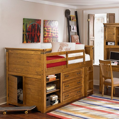 Bryce Canyon Mid Loft Bed - Heirloom Pine