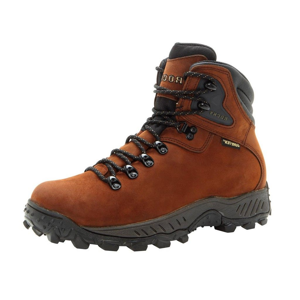 Rocky Outdoor Boots Mens Ridgetop WP Leather Hiker Brown FQ0005212