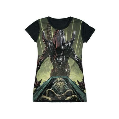 Alien Eggs (Alien Horror Movie Comic Book Egg Collection Juniors Black Back T-Shirt)