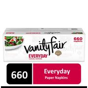 Vanity Fair Everyday Paper Napkins, 660 Count