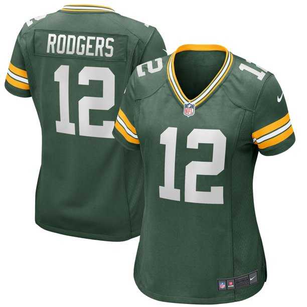 Aaron Rodgers Green Bay Packers Nike Women's Player Jersey - Green