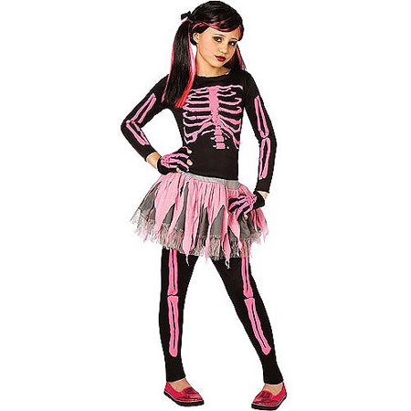 Pink Skeleton Child Halloween Costume - Skelton Costumes