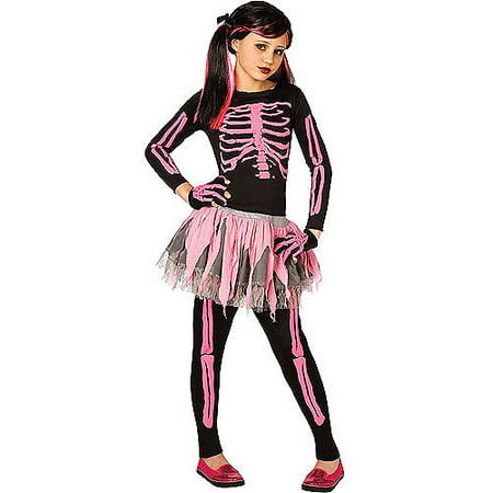 Pink Skeleton Child Halloween Costume - Pink Skeleton Halloween Costume