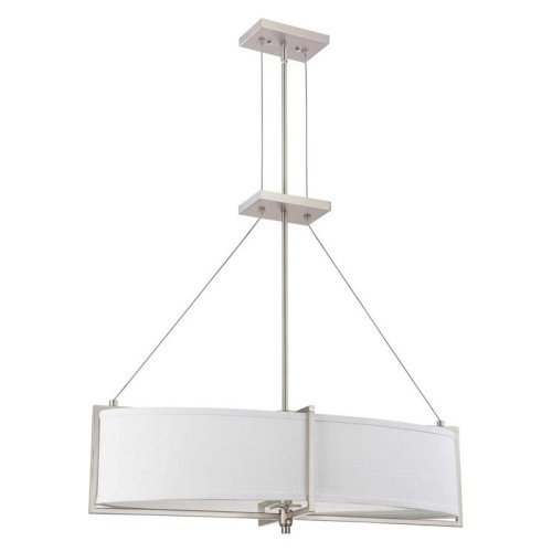 Nuvo Portia 60/4347 4-Light Oval Pendant - 11W in. - Brushed Nickel - ENERGY STAR
