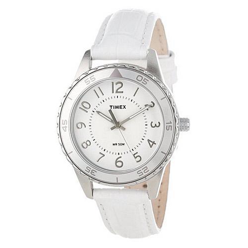 Timex Women's Fashion Sport Watch, White Croco Strap