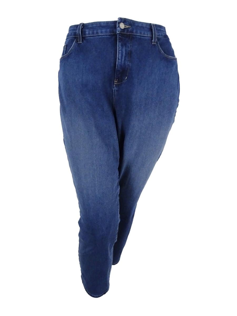 NYDJ Women's Plus Size Ira Slim-Leg Thorton Wash Ankle Jeans (20W, Thorton)