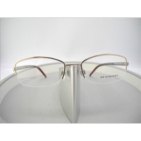 Like New Burberry BE 1157 1011 Bronze Semi Rimless Eyeglasses (Burberry Rimless Eyeglasses)