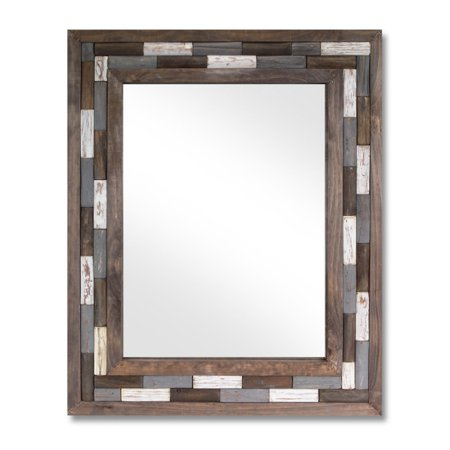 32 brown and white natural rustic wooden framed for White framed decorative mirror