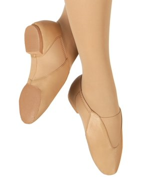 """Girls """"Ultimate Competition"""" Leather Jazz Shoes with Neoprene"""