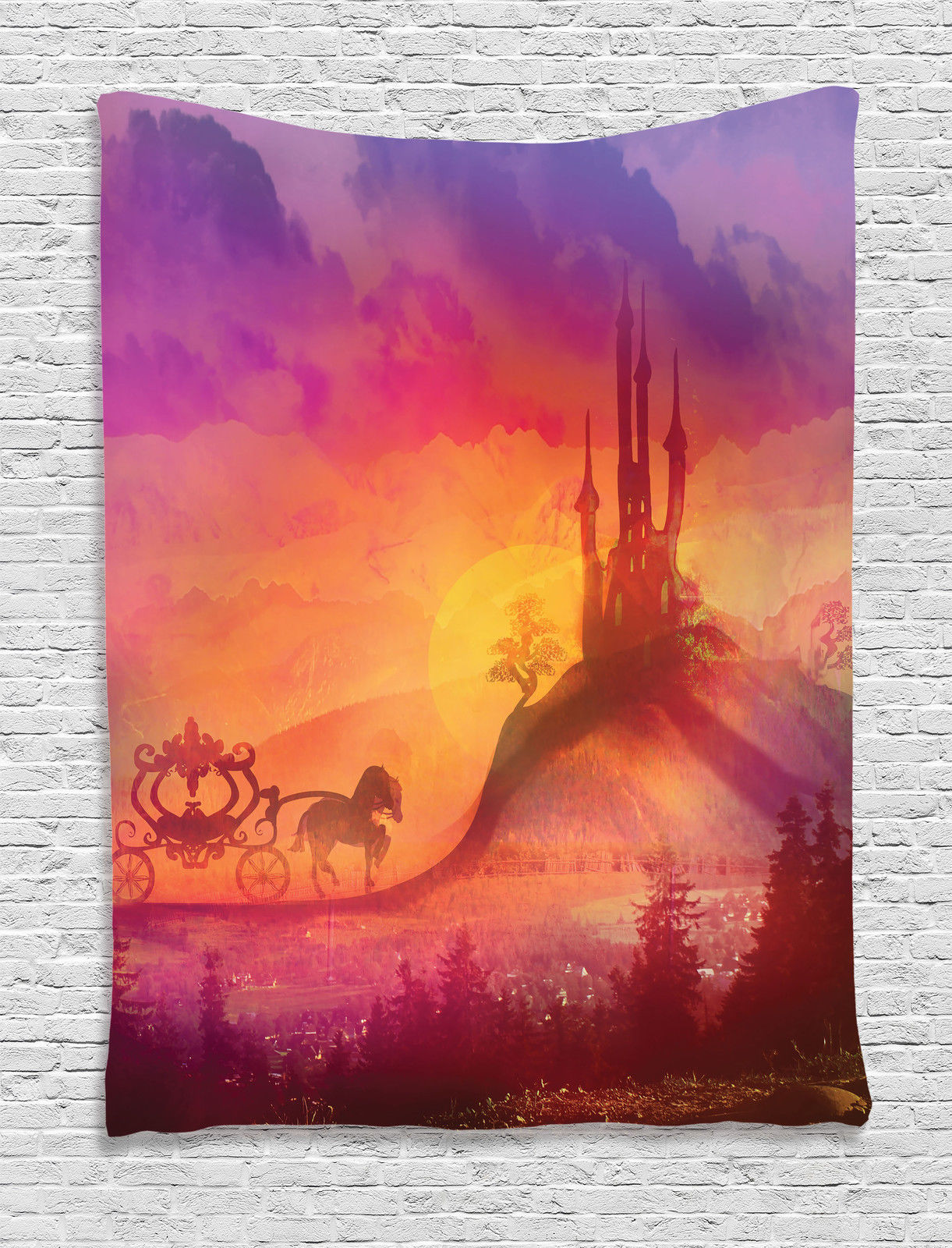 Fantasy House Decor Wall Hanging Tapestry Fantasy Gothic Medieval