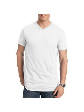 Hanes Men's and Big Men's Nano-T Short Sleeve V-Neck, Up To Size 3XL