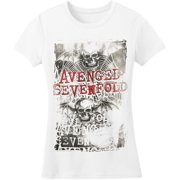Avenged Sevenfold  Spiderweb Girls Jr Soft tee Black