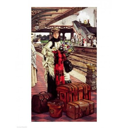 Waiting at The Station Poster Print by James Jacques Joseph Tissot - 18 x 24 in. - image 1 of 1