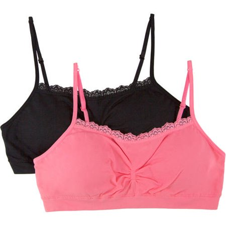 704c6174ea8a6 Fruit of the Loom - Girls  Santoni Bras With Lace 2 Pack - Walmart.com