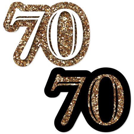 Adult 70th Birthday - Gold - DIY Shaped Birthday Party Cut-Outs - 24 Count](70th Birthday Banner)