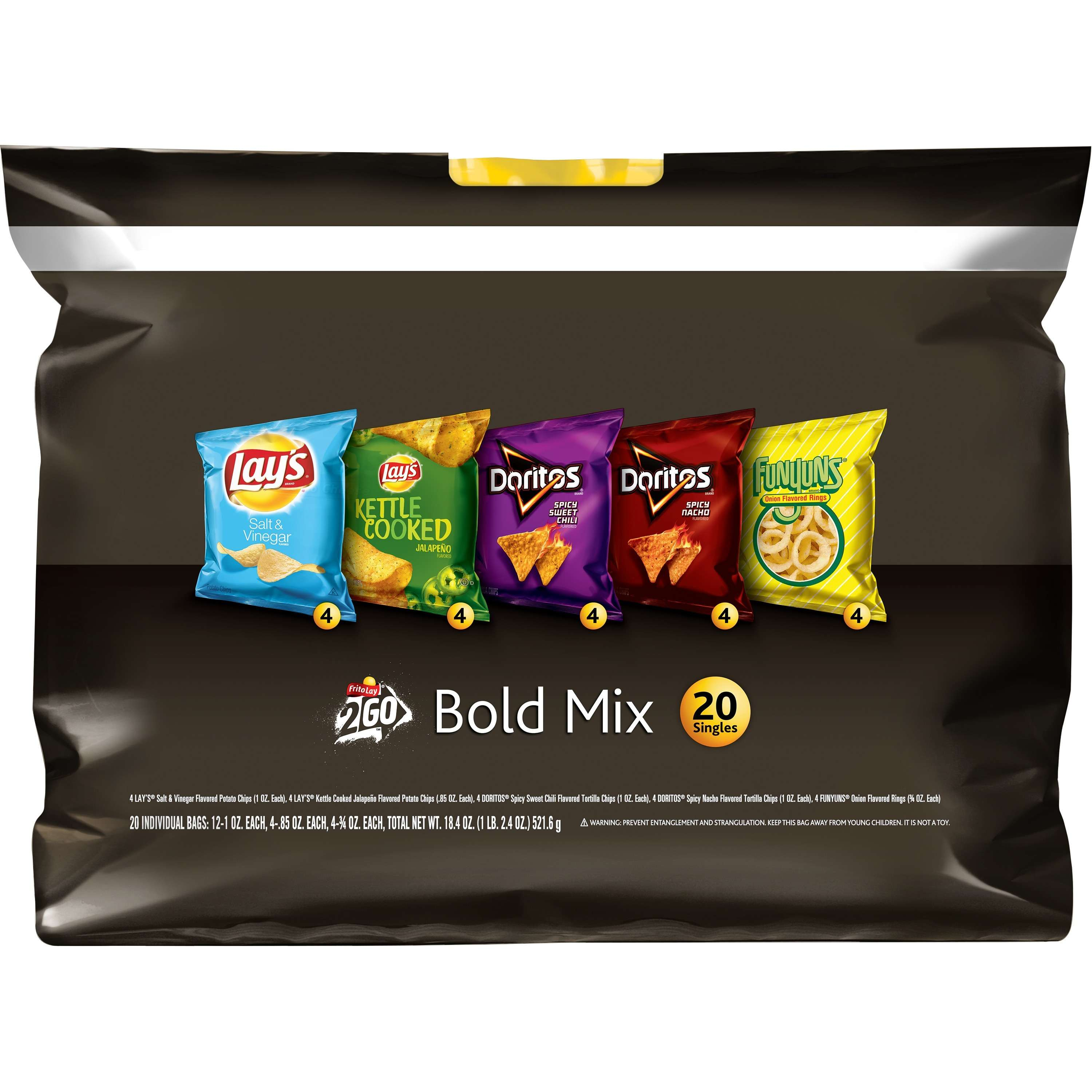 Frito Lay Bold Mix Variety Pack, 20 Count