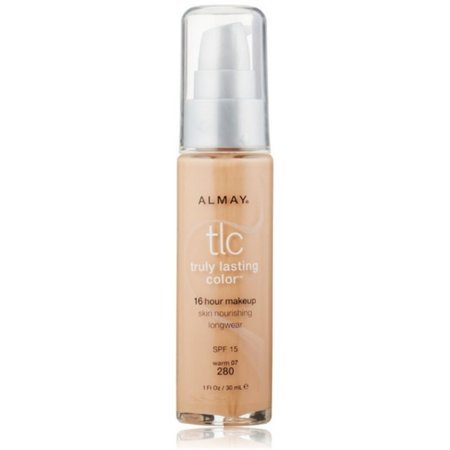 Almay TLC Truly Lasting Color 16 Hour Makeup, Warm 07 [280] 1 oz (Pack of 2) Almay Truly Lasting Makeup