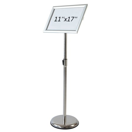 AboutDisplay Adjustable Pedestal Poster Stand with Rotating ...