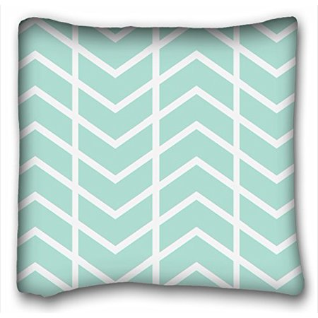 RYLABLUE Chevron Gradient Wave Tribal Striped Geometric Pillowcase Throw Cushion Pillow Case Cover Anchor Light Blue Coral Teal Pink Mint Green Turquoise 18x18 Inch - image 1 of 1