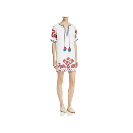 - Parker Womens Tristan Mini Embroidered Casual Dress