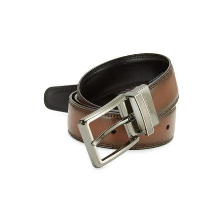 Leather Double Side Belt 34 Brown Western Belts