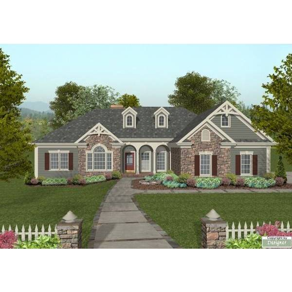 TheHouseDesigners-8460 Southern House Plan with Basement Foundation (5 Printed Sets)