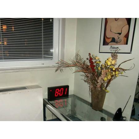 Large Huge & Digital Display 4' Digits LED Best Alarm Clock With